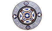 Dining Marble Round Kitchen Table Top Precious Design Inlaid Home Decorate H5658