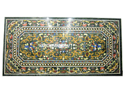 Marble Dining Table Top Marquetry Gemstone Garden Art Real Furniture Decor H3024