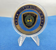 City Of Houston Police Department Challenge Coin St. Michael 1.50 W/ Capsule
