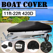 420d Fabric Boat Cover Runabouts Waterproof Trailerable Tri-hull Beam 78-100