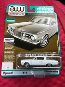 Auto World 164 2019 R4 Vintage Muscle Ivory 1965 Plymouth Barracuda Formula S B