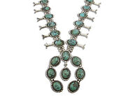 Navajo Royston Turquoise Concho Necklace Signed Benjamin Piaso C.80and039s