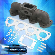 For 92-01 Honda Prelude H22 Performance Upgrade Cast Iron T3/t4 Turbo Manifold