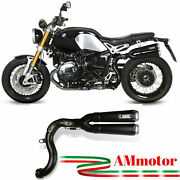 Mivv Bmw R Nine T 2014 14 Exhaust Motorcycle Slip-on X-cone Black Approved High