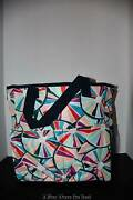 Thirty One Crossbody Organizing Tote In Pinwheel Party Nwt