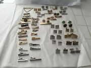 Large Lot Of Vintage Cufflinks And Tie Clips Hickok Swank Anson - Some Sets