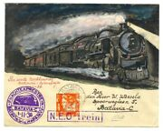Dutch Indies-ned Indie 1936 -hand Painted Cv - First Express Night Train -rare