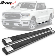 Fits 19 Dodge Ram Crew Oe Style Chrome 4.5in Side Step Nerf Bars Running Boards
