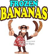 Frozen Bananas Decal Choose Your Size Monkey Food Truck Concession Sticker