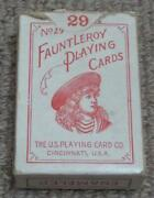 Fauntleroy No 29 Antique Boxed Pack Of 29 Miniature Patience Playing Cards