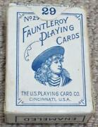 Fauntleroy No 29 Antique Boxed Pack Of Miniature 29 Patience Playing Cards