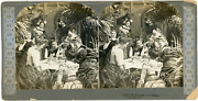 Stereo, A Fortune In A Tea-cup, Circa 1900 Vintage Stereo Card - Tirage Album