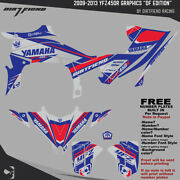 Yfz450r Graphics 2009-2013 Dfr Df Edition Gray Red Blue Sides Fenders