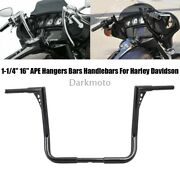 16 Rise Handlebars 1.25 Drag Ape Hand Bar Hollow Out For Harley Electra Glide