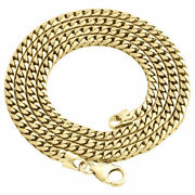 10k Yellow Gold Solid Franco Box Chain Closed Link 3.50mm Necklace 24 - 30 Inch