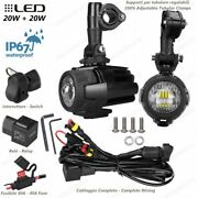 Spotlights Led Fog Lamp Cables And Switch Motorcycle Guzzi 750 V7 Ii Special Abs