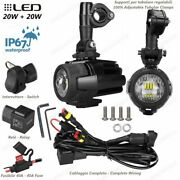 Spotlights Led Fog Lamp Cables And Switch Honda 125 Msx 2013-2014