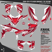 Yfz450r Graphics 2009-2013 Dfr Df Edition White Red Full Wrap Yfz 450r