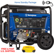 Westinghouse Wgen7500 Remote Start W 250v 30a Champion Cord Home Standby Package