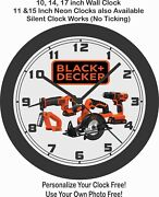 Black And Decker Tools Wall Clock-free Us Ship Craftsman Snap-on -choose 1 Of 3
