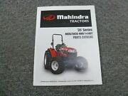 Mahindra 35 Series 4035 And 5035 4wd T4 Hst Tractor Parts Catalog Manual