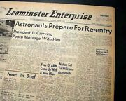 Apollo 11 Man Lands On The Moon Neil Armstrong And Buzz Aldrin 1969 Old Newspaper