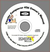 Courier Conqueror 40d Ssb Cd Owner's Manual Cb Radio Cd Manual Only Kj4iye