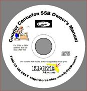 Courier Centurion Ssb Cd Owner's Manual + Schematic Cb Radio Manual Cd Only