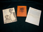 Opc Vintage Amos N Andy Autograph Lot 1st Edition Book Picture Personnel Letter