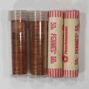 4 Roll Lot 1986 Lincoln Memorial 1c Unsearched Estate Find Gem Bu Red Lmc-86