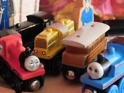 Thomas And Friends Wooden Train Set In Wood Decorative Box. Vintage/rare.