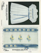 Smocking Design Plates Bouquets And Bows, Spring Flower Baskets, Baby Choose One