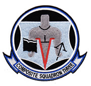 5 Navy Vc-3 Blue Nemesis Composite Squadron Three Embroidered Patch