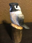 Little Chickadee Wood Carving Douglas Fir Chainsaw In Alaska By Robbie Carver