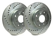 Sp Performance Front Rotors For 2001 Accord 5 Bolt | Drilled Zinc C19-257-p5496