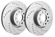 Sp Front Rotors For 1993 300se W/ Girling Calipers | Drill + Slot F28-252e3678