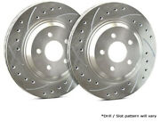 Sp Rear Rotors For 2005 F-150 W/ 6 Lugs Wheels | Drilled Slotted F54-111-p4031