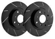 Sp Performance Rear Rotors For 1987 Galant | Slotted Black Zinc T30-2554-bp462