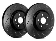 Sp Performance Front Rotors For 2005 Civic Gx | Drilled Black C19-2724-bp8831