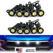 10pcs White Led Grille Running Light For 2014-up Toyota Tundra W/trd Pro Grill