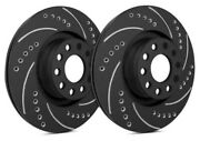 Sp Front Rotors For 2012 Express 1500   Drilled Slotted Black F55-097-bp7120