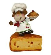 Wee Forest Folk Bon Appetit Wff Tm-1 White With Cherry Mouse Chef