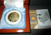 2015 Pope Francis 500 Piso Commemorative Papal Coin Visit Philippines Wood Case
