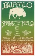 Buffalo Springfield 1968 Original 1st Poster Neil Young Valley Theater J7068