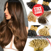 Clearance Thick I Tip Stick Pre Bonded Real Human Hair Extensions 100s/200s G229