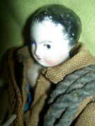 Very Rare French Antique Bisque Francois Gaultier Fg Fisherman Doll All Orig.