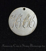 Love Token Engraved Hcc Silver On Cc Carson City Liberty Seated Dime 10c