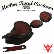 2014-21 Indian Chief Ant Red Oak L Spring Seat Mounting Kit Pad Back Rest Bib Bs