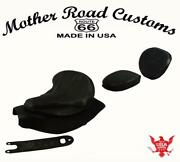 2014-21 Indian Chief Spring Seat Mounting Kit Pad Back Rest Bib Black Distres Bs