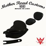 2014-21 Indian Chief Black Leather Spring Seat Mounting Kit Pad Back Rest Bib Bs